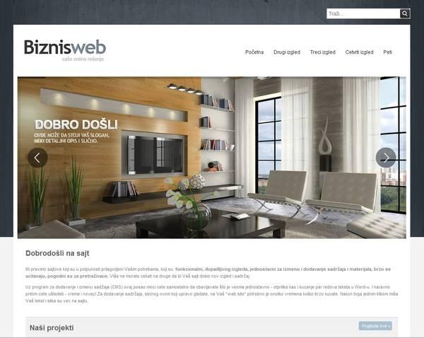 CSS slider template web site baker
