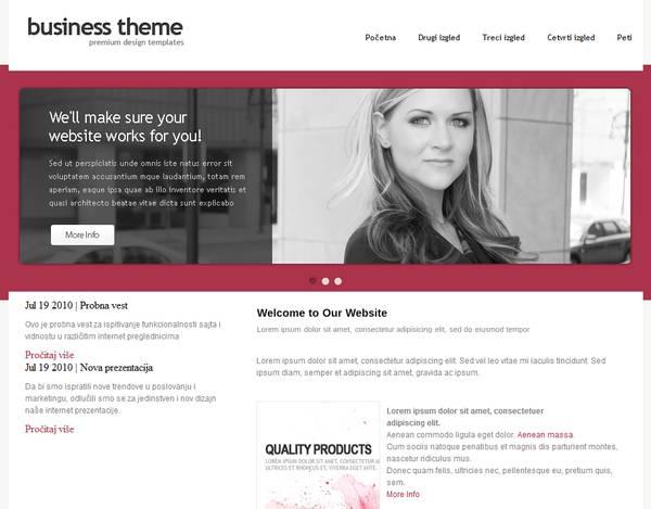 websitebaker Template