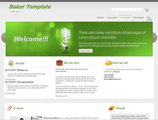 Blankist websitebaker template FREE
